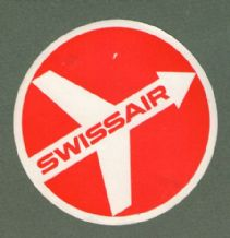 Airline luggage label Swissair #430